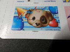 FRANCE 2018 timbre AUTOCOLLANT EMOJI, OURS OURSON, BEAR, neuf MNH