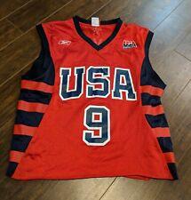 Vintage Reebok LeBron James USA Jersey Size M Cropped
