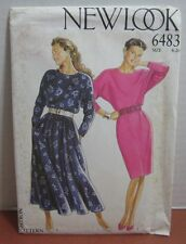 Ladies Dress Sewing Pattern New Look 7 Sizes 8,10,12,14,16,18,20 #6483 Uncut