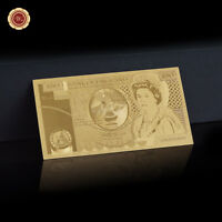 WR Rare England Old Fifty Pound Note £50 Gold Banknote 24K 50th Birthday Gifts