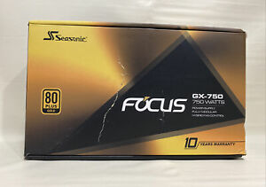 Seasonic FOCUS GX-750, 750W 80+ Gold, Full-Modular, Fan Control in Fanless, Sile
