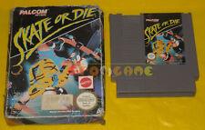 SKATE OR DIE Nintendo Nes Versione Italiana PAL A »»»»» BOXATO