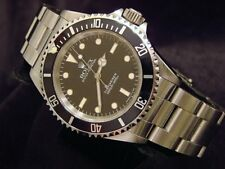 Rolex Submariner Mens Stainless Steel No Date Sub Watch Black Dial & Bezel 14060