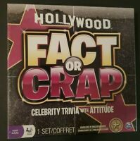 Hollywood Fact or Crap Celebrity Trivia Game 3-8 Players Adult Game NEW Sealed