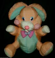 "15"" VINTAGE DANDEE NYLON ORANGE EASTER BUNNY RABBIT STUFFED ANIMAL PLUSH TOY"