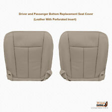 2011 2012 Ford Expedition - DRIVER & PASSENGER Bottom Gray Leather Seat Cover