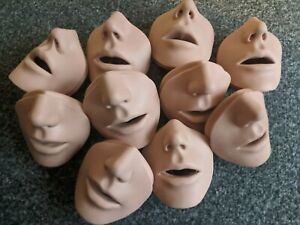 10 X SIMULAID BRAD ADULT CPR MANIKIN MOUTHS/NOSEPIECES