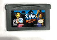 The Sims Bustin' Out - Nintendo Game Boy Advance GBA Tested + Working AUTHENTIC!