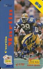 1995 Signature Rookies Auto-Phonex Phone Card Autographs #26 Curtis Martin /3750