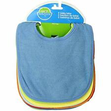 Neat Solutions 8 Pack Multi-Color Solid Knit Terry Feeder Bib, Boy Baby