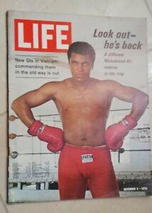 RIVISTA LIFE 9 NOVEMBER 1970 MUHAMMAD ALI RETURNS TO THE RING