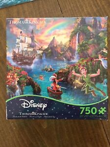 Thomas Kinkade Peter Pan Neverland Jigsaw Puzzle 750 Piece Ceaco Disney