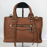 Rebecca Minkoff Micro Satchel Women's Crossbody Bag Handbag Brown Leather NWT