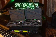 Shure UHF-R UR124D Dual Combo System UR1 WL185 UR2 SM58 J5 USA Legal