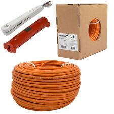 100m PremiumX CAT 7 Netzwerk Kabel  Abisolierer Anlegewerkzeug Auflegewerkzeug