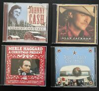 Country Christmas 4 CD Lot! Johnny Cash, Alan Jackson, Merle Haggard, and More