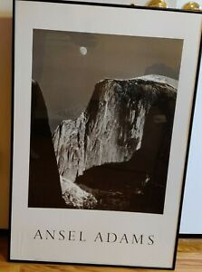 Ansel Adams Mountain Landscape Framed Large Moon and Half Dome Yosemite