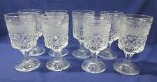 "8 Anchor Hocking WEXFORD 5 3/8"" Claret Wine or Juice Goblet Glasses"