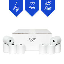 100 3x165 Bond Poscash Registerreceipt Paper Rolls