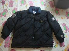 Vintage NFL DALLAS COWBOYS Pro Player Black parka Coat Jacket Men's XL