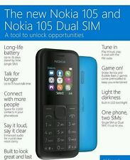 Brand New Nokia 105 Dual Sim Basic Phone For All Networks Except 3