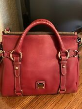 Dooney and Bourke Small Pebbled Leather Satchel in Rare Wine Color! BNWT!