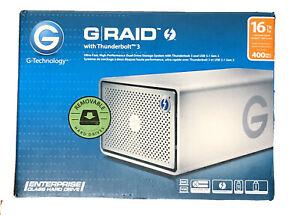 G-Technology G-RAID 16TB 2 Bay Thunderbolt 3 USB 3.1 RAID Storage Array Open Box