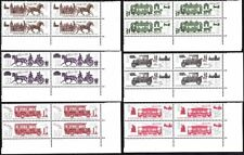 RUSSIA/USSR 1981 TRANSPORT History. Horse, Cart, Car, Tram. Corner Blocks'4, MNH