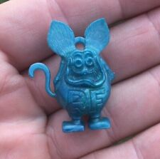 Vintage 1960s, RAT FINK, Blue Gumball Charm, No Eye Color, Great Condition