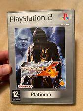 Tekken 4 Sony PS2 Case & Box Art Only. No Disc. Platinum Version