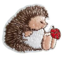 Cute Hedgehog Iron On Patch Sew on Embroidered transfer small Hedgehog