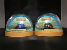 2 Vintage FanDome plastic snow domes - La Dodgers and Baltimore Orioles