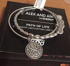 Alex and Ani Energy Bracelet Russian Silver Path of Life Jordan Set NWT