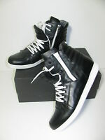 CESARE PACIOTTI 4US Schwarz Leder High Top Sneakers Trainers Turnschuhe Gr.8/42