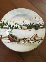 Christmas Valley by Sakura Salad Plate David Carter Brown Village Scene b208