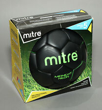 Mitre Midnight Neon Black Official Size 5 Soccer Ball New In Box