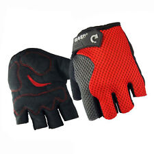 MTB Cycling Half Finger Gloves Bike Sports Wear Breathable Bicycle Glove Red L