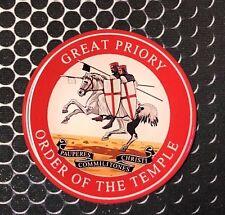 "Knights Templar Freemason Great Priory Domed Decal car Emblem 3D 2.5"" Malta"