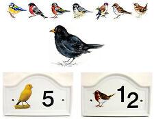 Blackbird House Door Number Plaque Black Bird  Door Sign Any Number Decorated UK