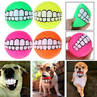 Pet Dog Teeth Chew Toy Chewing Ball Squeaker Squeaky Sounding for Tooth Training