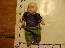 vintage CHINESE DOLL #2 blue with green pants and hair