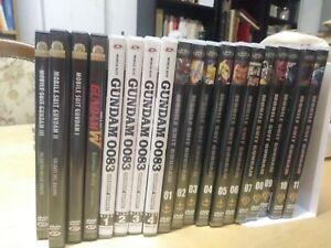 19 dvd gundam mubile suit gundam 0083 gundam w gundam the movie 3 serie