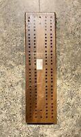 "Vintage Drueke's Walnut Cribbage Board No.1 - 7-5/8"" x 2-1/8"" - New"