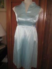 Formal Dress True Vintage 1970's Custom Turquoise Womens Petite 5 Embellished