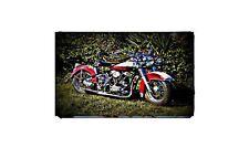 1953 Harley Hydra Glide Bike Motorcycle A4 Photo Poster