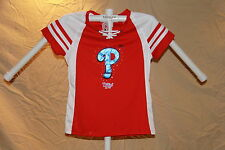 PHILADELPHIA PHILLIES Fan Fashion DRAFT ME JERSEY/Shirt MAJESTIC Womens XL  NWT