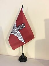 "PARACHUTE REGIMENT BRITISH MILITARY TABLE FLAG 9"" X 6"" 22.5cm x 15cm flags"