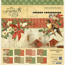 Graphic45 WINTER WONDERLAND 12x12 PAPER PAD scrapbooking (24) SHEETS