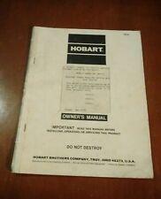 Hobart Heavy Equipment Manuals & Books for sale | eBay