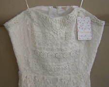 NWT $148 FREE PEOPLE Size 8 I HEART LACE DRESS Ivory STRAPLESS F304Y968